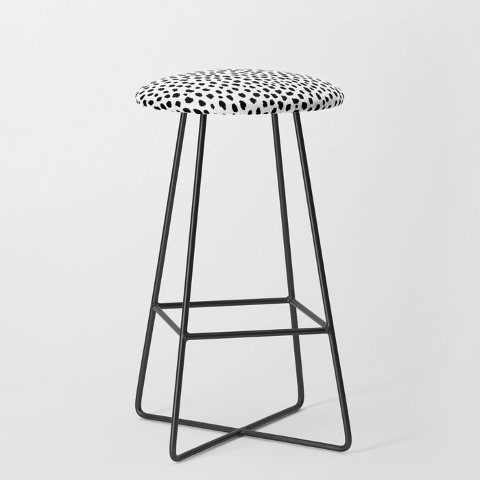 Dalmatian Spots (black/white) Bar Stool
