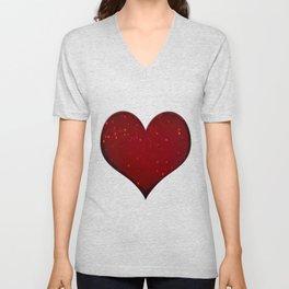 Sangria Hearts Unisex V-Neck