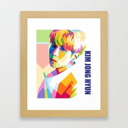 Kim Jong Hyun In Pop Art Framed Art Print