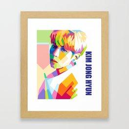 Kim Jong Hyun In Pop Art Framed Art Print