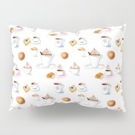 World Of Coffees And Pastries Pillow Sham