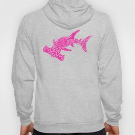 Nancy's Hot Pink Tribal Hammerhead Shark Hoody