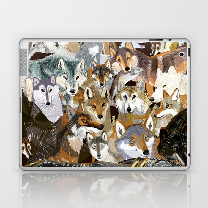 Wolves o´clock (Time to Wolf) Laptop & iPad Skin
