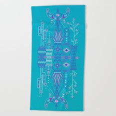 Santa Fe Garden – Blue & Purple Beach Towel