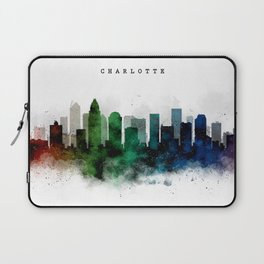 Charlotte Watercolor Skyline Laptop Sleeve