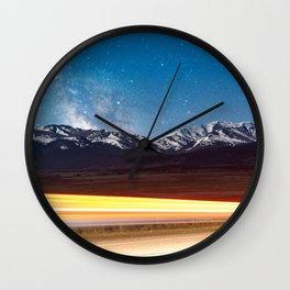 Milky Way over the Colorado Rocky Mountains Wall Clock