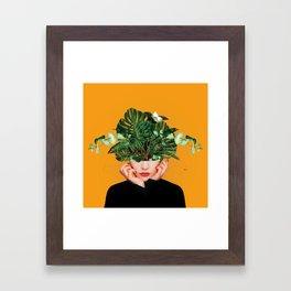 Lady Flowers || Framed Art Print