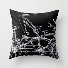 White bikes Throw Pillow