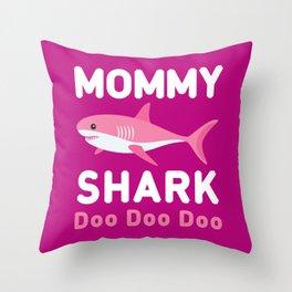 Mommy Shark Throw Pillow