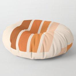 Warm Retro Stripes 70s Floor Pillow