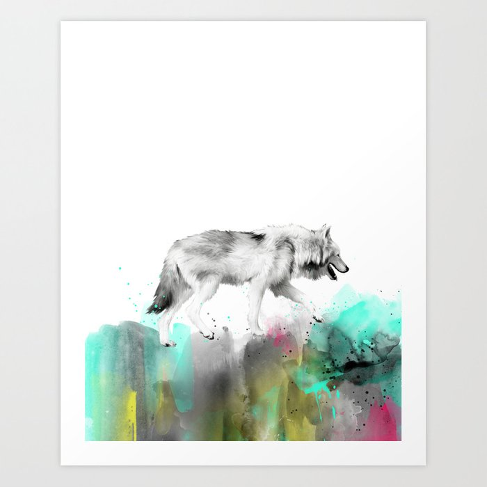 Discover the motif WILD NO. 3 // WOLF by Amy Hamilton as a print at TOPPOSTER