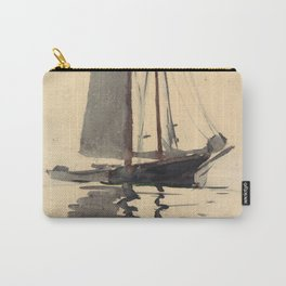 Vintage Schooner Sailboat Watercolor Painting (1894) Carry-All Pouch