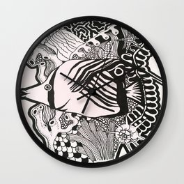 Great Barrier Fish Wall Clock