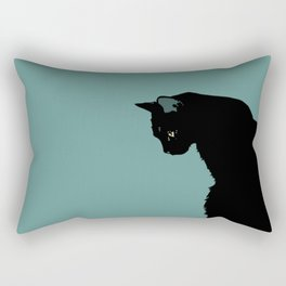 Blue Cat Rectangular Pillow