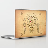 tatoo Laptop & iPad Skins featuring • old tatoo comix • by Jprojectlab