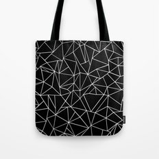 Abstraction Outline Black and White Tote Bag