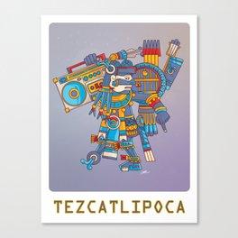 Tezcatlipoca De La Noche Canvas Print