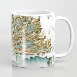 Tree in Gold and Teal Coffee Mug