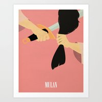 mulan Art Prints featuring Mulan by magicblood