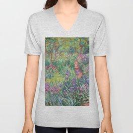 Claude Monet - The Artist's Garden in Giverny Unisex V-Neck