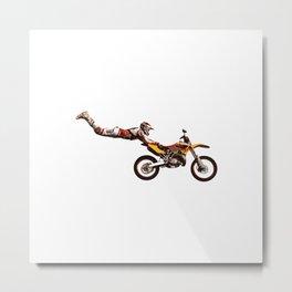 Motocross Stunt Jump Metal Print