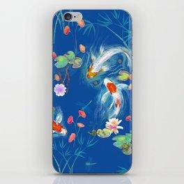 Blue Japanese Water Garden iPhone Skin