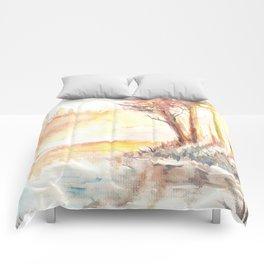 Watercolor Landscape 03 Comforters