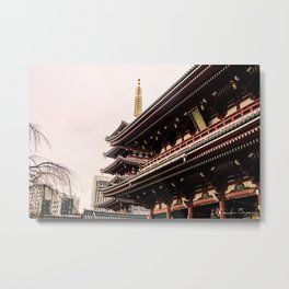 Red Temple Metal Print