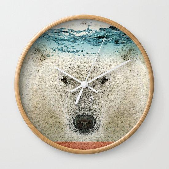bear line Wall Clock