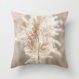 Grass   Reeds   Beach   Nature Photography   Landscape   Seascape Throw Pillow