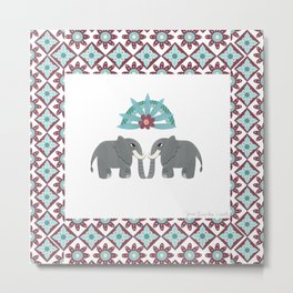 Elephant Honeymoon Metal Print