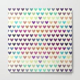 Colorful hearts III Metal Print