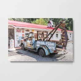 Fresh Fish Truck Metal Print