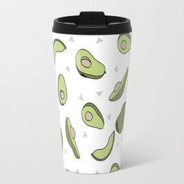 Avocado pattern by andrea lauren minimal cute fruit vegetable food print design Travel Mug