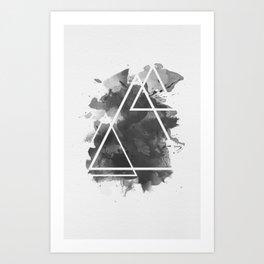 Splashed Triangles Art Print