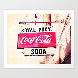 Royal Pharmacy Vintage Sign - New Orleans Art Print