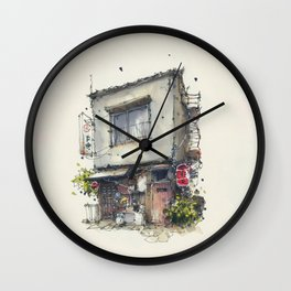 House in the town of Tateishi, Tokyo, Japan Wall Clock