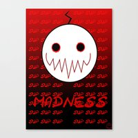 cryaotic Canvas Prints featuring Cryaotic - Madness by PyroSomniac