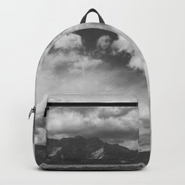 Red Rock Canyon, Las Vegas, Nevada. Mountain Black and White Photograph Backpack