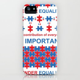 Gender Equality_02 by Victoria Deregus iPhone Case