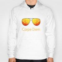 carpe diem Hoodies featuring Carpe Diem by Leah M. Gunther Photography & Design