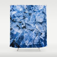 ice Shower Curtains featuring Ice by digital2real