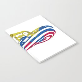 Colombian Sombrero Vueltiao in Colombian Flag Colors Notebook