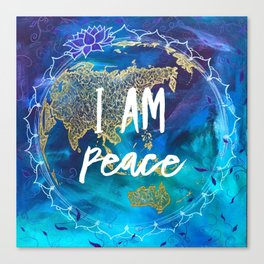 I am Peace Affirmation Quote Canvas Print