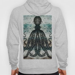 Octopus In Stormy Water Hoody