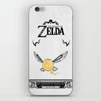 the legend of zelda iPhone & iPod Skins featuring Zelda legend - Navi by Art & Be