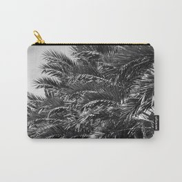 Palm Trees Grove In Noir Upshot Carry-All Pouch