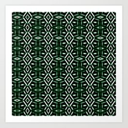 Meshed in Green Art Print