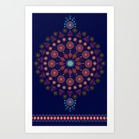 nordic Art Prints featuring Nordic Star by RED ROAD STUDIO