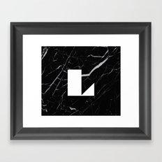 Black Marble - Alphabet L Framed Art Print